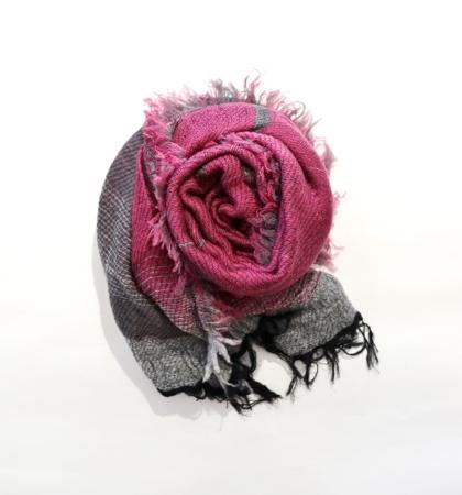 tamaki niime roots shawl middle wool×cotton