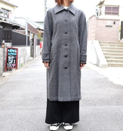 YARRA (ヤラ)  ウールステンカラーコート
