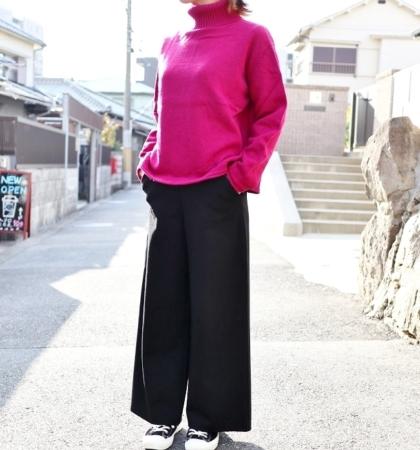 YARRA イタリーメリノタートル(O.WHITE/D.PINK/M.GRAY)